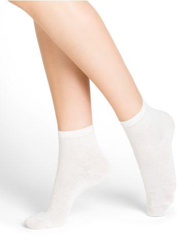 Linen and cotton mid-calf socks