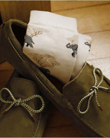 Chaussettes Coton Motif Éléphants