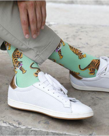 Tiger Pattern Cotton Socks