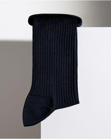 Ribbed silk socks