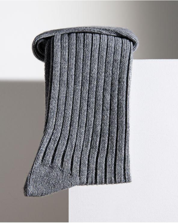 Chaussettes Laine Cachemire À Côtes