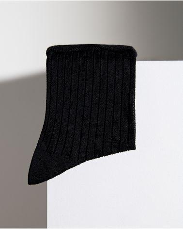 Chaussettes Fil d'Écosse à Côtes Ajourées