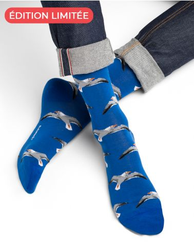 Gull Pattern Cotton Socks