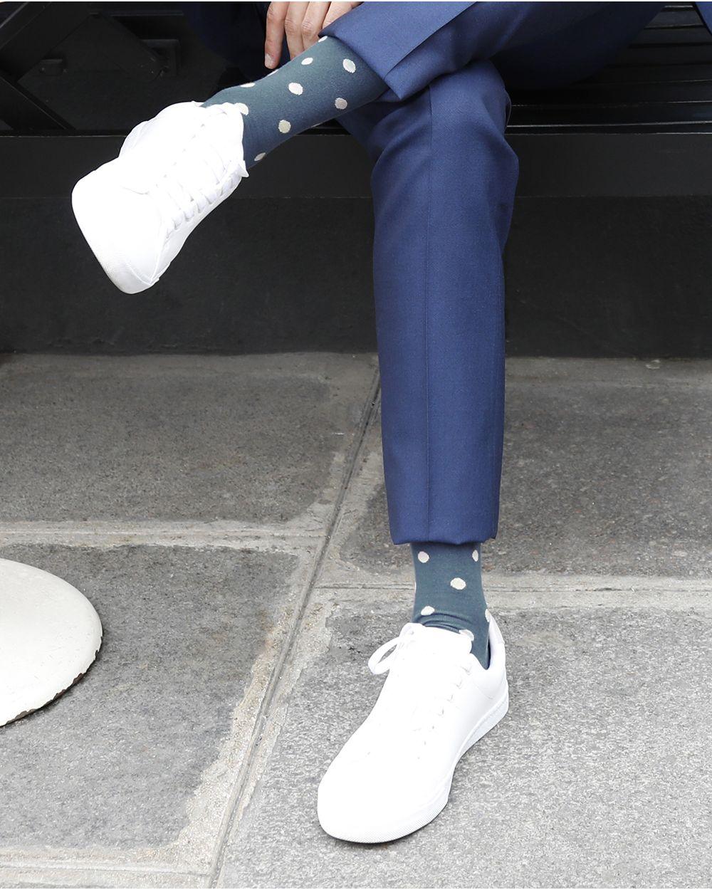 Colour Gradient Dot Pattern Egyptian Cotton Socks