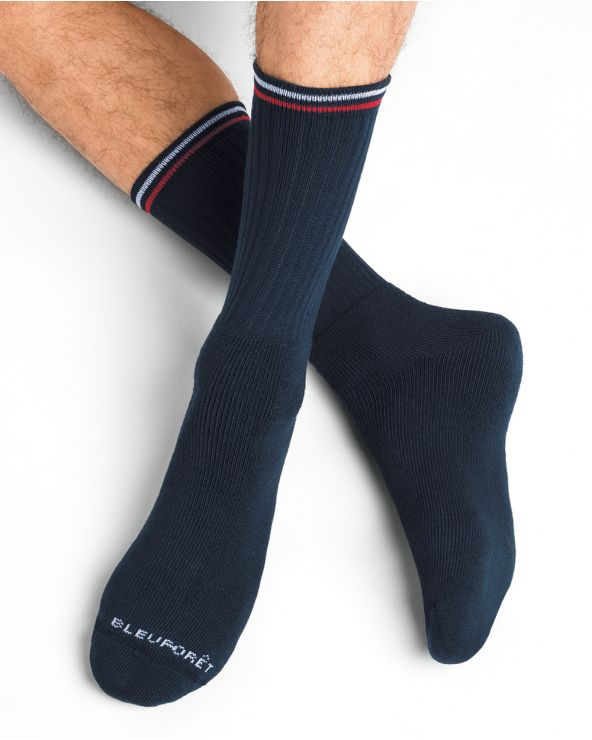 Chaussettes de sport à côtes