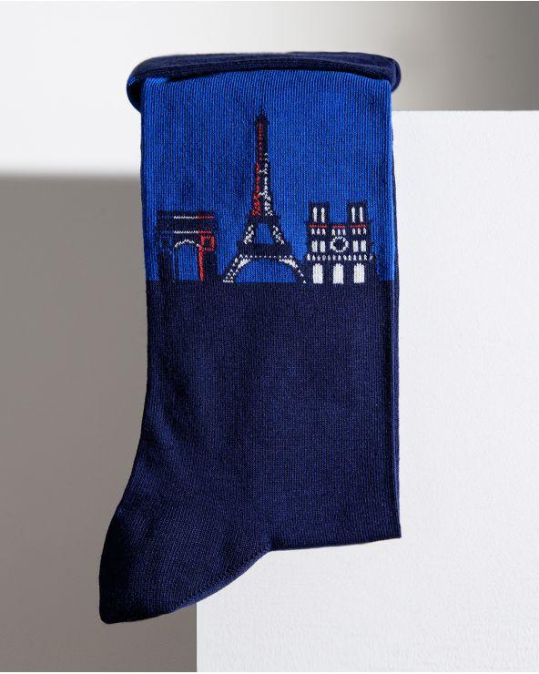 Chaussettes Coton Motif Panorama Paris