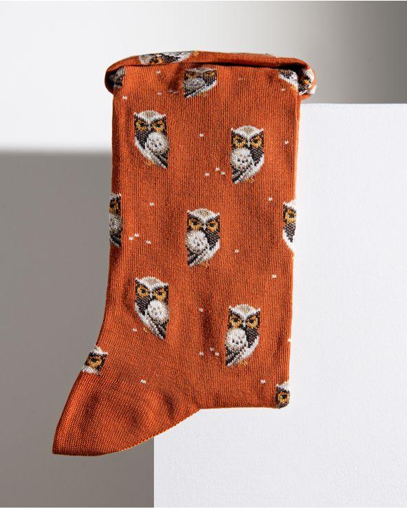 Chaussettes Coton Motif Chouettes
