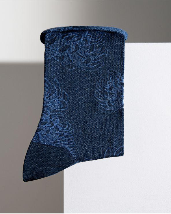 Chaussettes fil d'Écosse Motif Dahlias