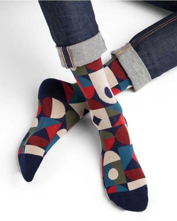 Geometric pattern cotton socks