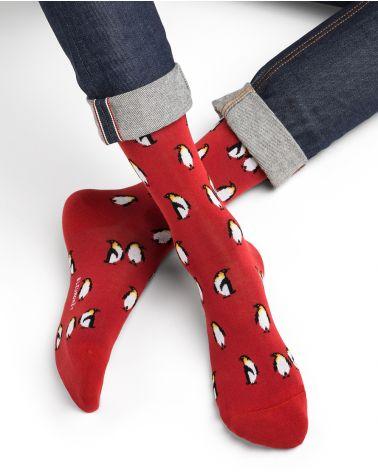 Penguin pattern cotton socks