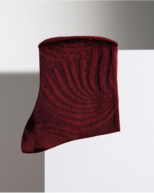 Chaussettes Soie Motif Dentelle Fleur Tigrée