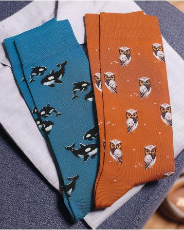 Chaussettes Coton Motif Orques