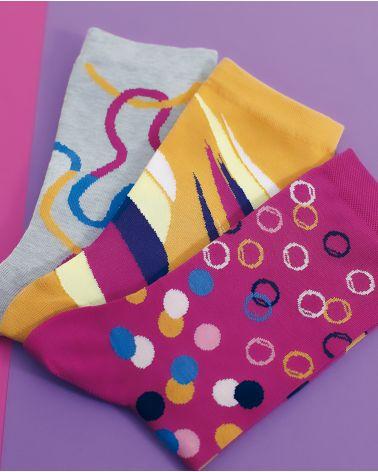 Chaussettes Coton Motif Serpentins