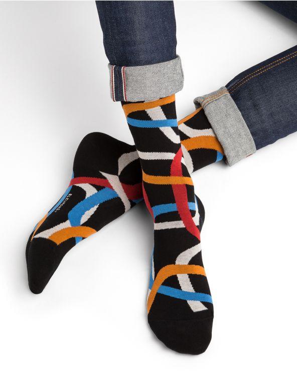Ring motif cotton socks