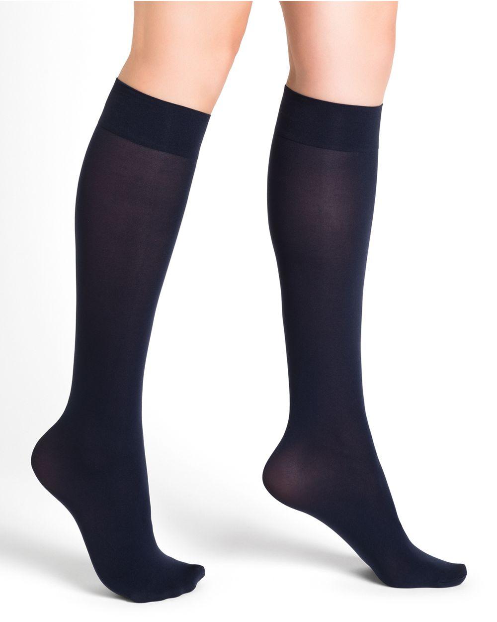 Intense 50D opaque knee-highs - Excellence