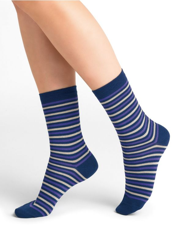 Chaussettes Micromodal Cachemire Rayées