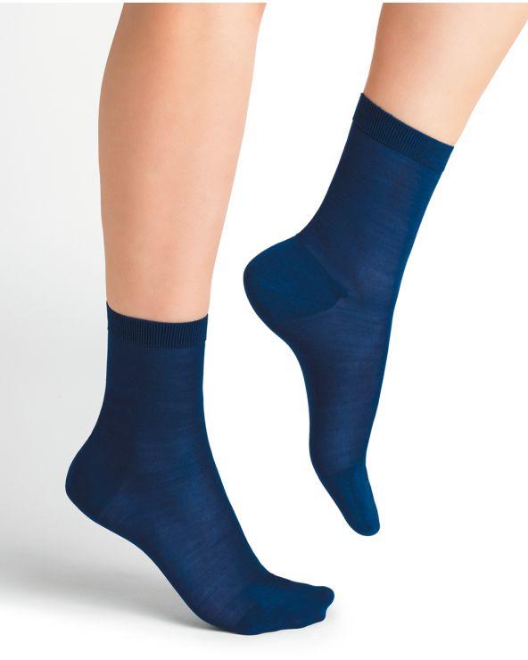 Plain 100% silk socks