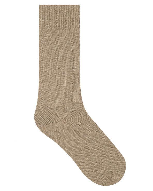 Plain cashmere socks