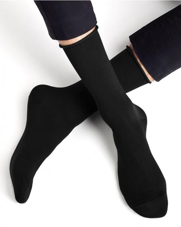 Chaussettes coton d'Égypte bord roulé