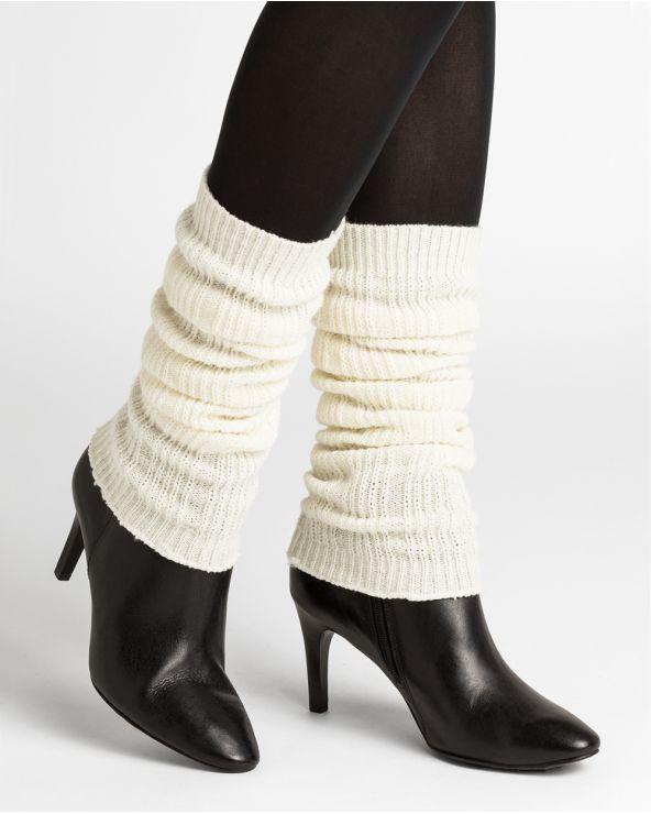 Plain cashmere leg-warmers