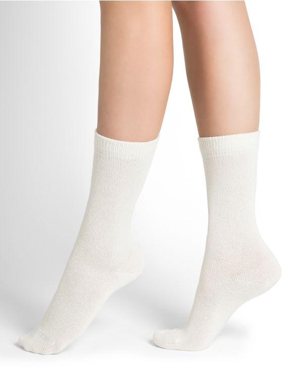 Calcetines de cachemira lisos