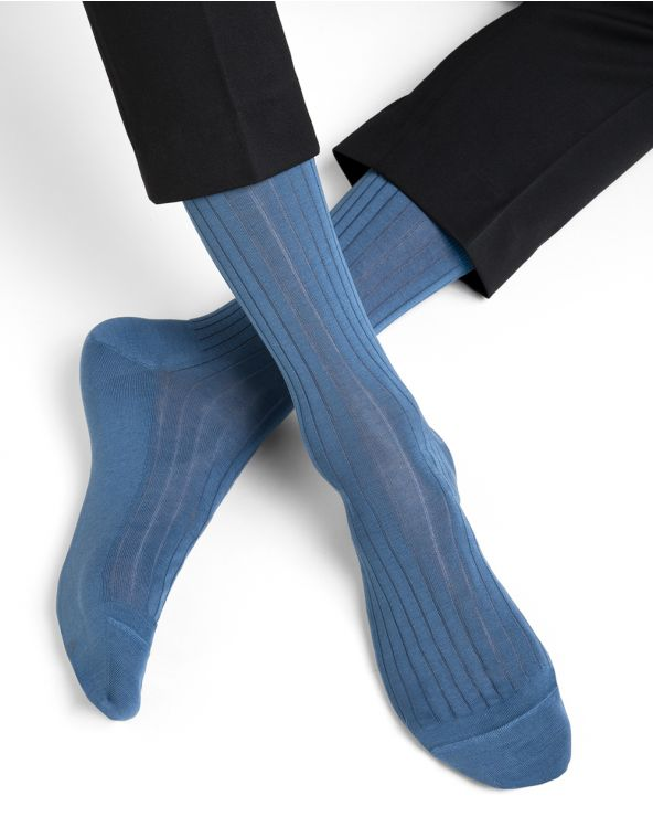 Chaussettes 100% fil d'Écosse à côtes