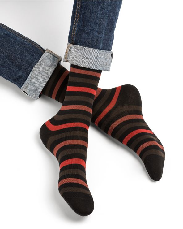 Calcetines de algodon a rayas